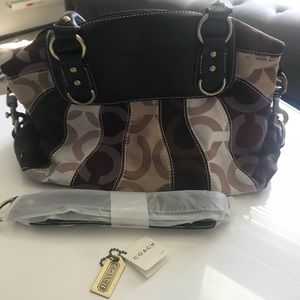Coach Canvas and Leather Bag